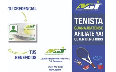 Tenista Guanajuatense ¡Afiliate YA! y Obtén Beneficios