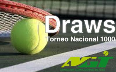 DRAWS Y ORDEN DE JUEGO  TORNEO NACIONAL 1000