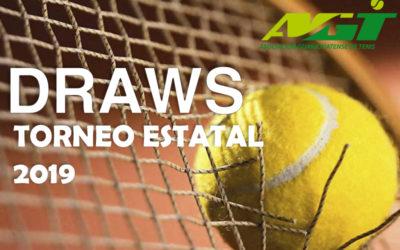DRAWS Y ORDEN DE JUEGO TORNEO ESTATAL 2019